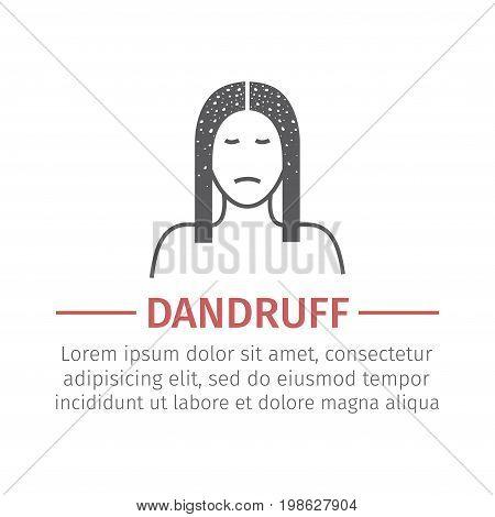 Dandruff sign. Vector icon for web graphic.