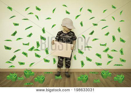 Money Concept. Online Earnings. Even