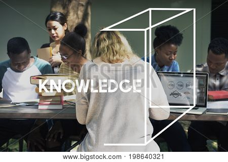 Woman Learning Study Education Knowledge Word Graphic