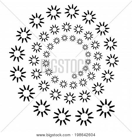 Background, Pattern, Black And White Spiral Pattern. Round Centered Halftone Illustration. Abstracti