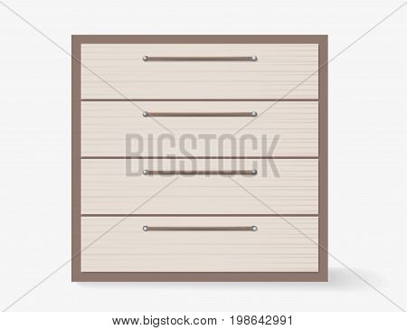 Commode realistic design on white background. Vector illustration