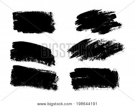 Vector Black Paint, Ink Brush Stroke, Brush, Line Or Texture. Dirty Artistic Design Element, Box, Fr