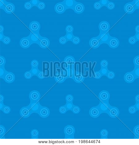Seamless pattern from a spinner toy. Toy fidget to relieve stress. Vector illustration.