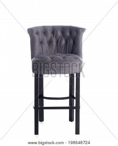 luxury overhung bar chair, four legs, isolated on white background