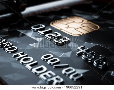 Black Credit Card Background