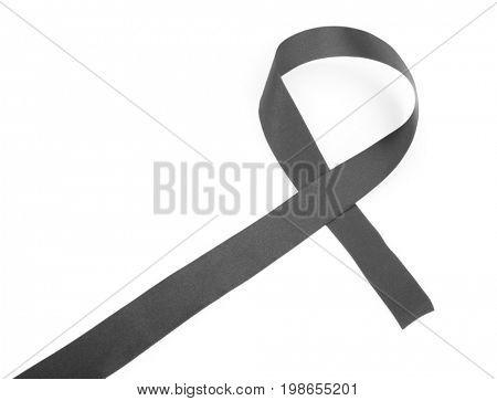 Black ribbon isolated on white
