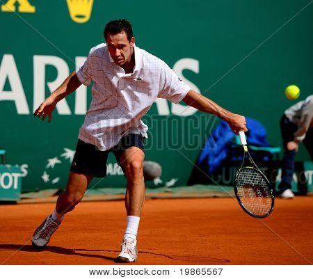 MONTE CARLO MONACO APRIL 21 Michael Llodra France competing at the ATP Masters tournament in Monte Carlo, Monaco, 19-27 April 2008