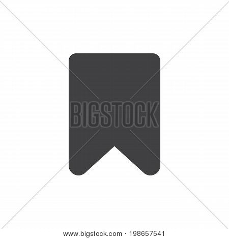 Bookmark simple icon vector, filled flat sign, solid glyph isolated on white. Symbol, logo illustration. Pixel perfect vector graphics