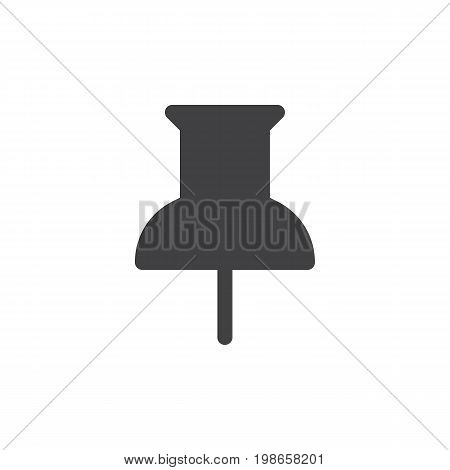 Thumbtack simple icon vector, filled flat sign, solid glyph isolated on white. Pushpin symbol, logo illustration. Pixel perfect vector graphics