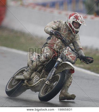 MILAN ITALY JUNE 24 Chris Hodgson GB competing in the FIM Supermoto World Championship CASTELLETTO DI BRANDUZZO ITALY