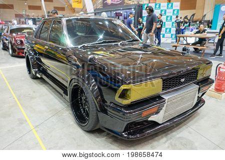 Serdang, Selangor Malaysia - July 29,2017 : Custom Old Nissan Bluebird Fitted With Turbocharged Engi