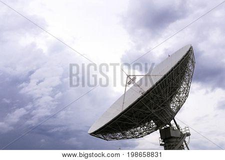 Closeup Big Satellite Dish Technology
