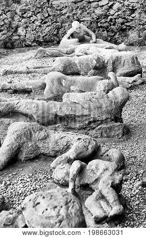 Victim group in Pompeii of the Vesuvius eruption of 79 BC