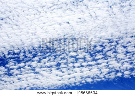 Nice natural background with white clouds against blue sky