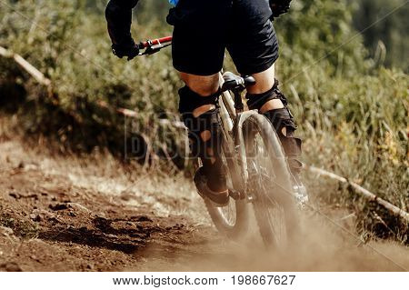 downhill xtreme rider dirt rear wheel of bicycle