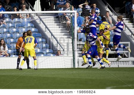 LONDON, UK AUGUST 2,Fitz Hall trying to score with a leaping header at the pre-season friendly football match between QPR and Chievo,