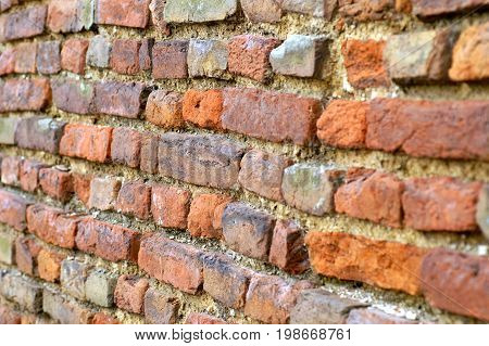 texture of a brick, old brown wall