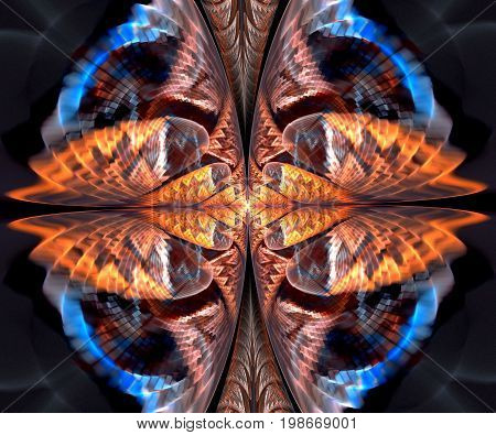 Computer generated fractal artwork with elegant symmetry
