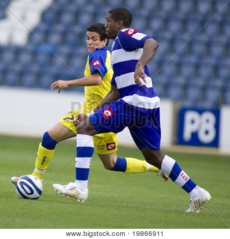 LONDON, UK AUGUST 2,Diego farias and Damion Stewart at the pre-season friendly football match between QPR and Chievo,