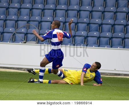 LONDON, UK AUGUST 2, Davide Mandelli trips  at the pre-season friendly football match between QPR and Chievo,