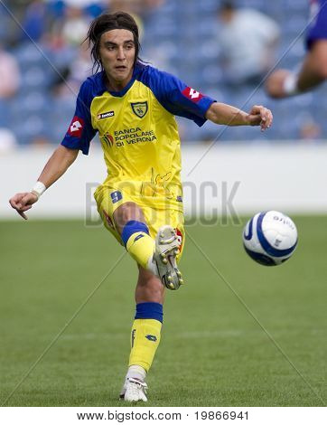 LONDON, UK AUGUST 2, Simone Bentivolio at the pre-season friendly football match between QPR and Chievo,