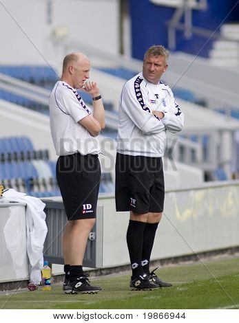LONDON, UK AUGUST 2, Ian Dowie QPR manager at the pre-season friendly football match between QPR and Chievo,
