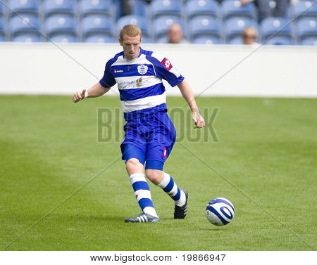 LONDON, UK AUGUST 2, Damien Delaney at the pre-season friendly football match between QPR and Chievo,