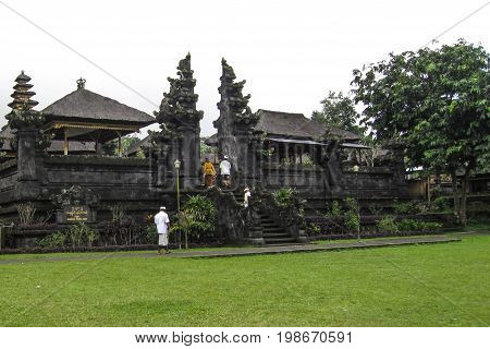 Pura Besakih is a temple complex in the village of Besakih on the slopes of Mount Agung in eastern Bali Indonesia.