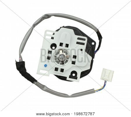 Car rearview mirror motor isolated on white background