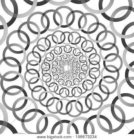 Background, Pattern, Black And White Spiral Pattern. Round Centered Halftone Illustration. Ring, Rin