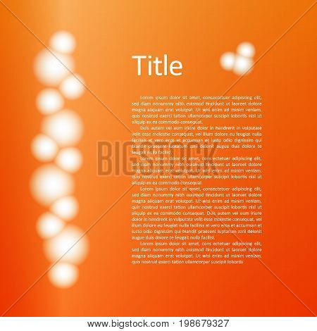 Vector abstract bunch of white luminous protein balls for conceptual design with text. Bundle of glow bulbs. EPS10