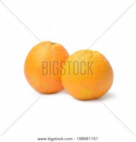 Navel Orange Isolated On White Background