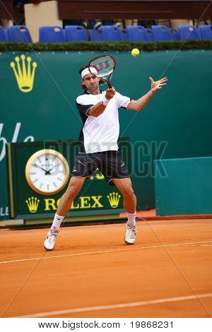 Monaco Monte-carlo masters 20 April, Nicolas Kiefer (Ger) im Wettbewerb in der atp-Turnier in monte