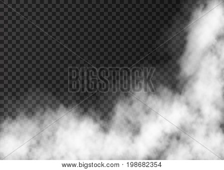 Realistic  Vector Fire Smoke  Or Mist Texture.