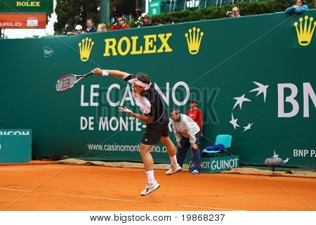 Monaco Monte-carlo 20 April, Nicolas Kiefer (Ger) im Wettbewerb im Finale der atp masters tourname