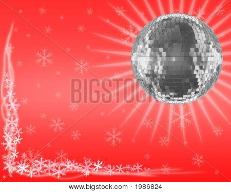 Mirrorball In Red