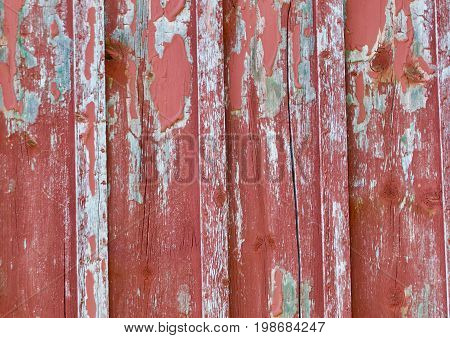 bleached and Peeling old red Barn Wood