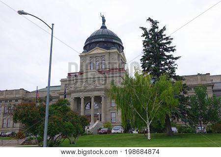 The Montana State Capitol building was constructed between 1896 and 1902 in Helena.
