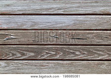 Gray and Red faded and weathered Wagon Wood