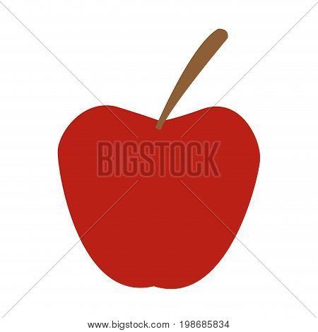 red apple fruit fresh nutrient vitamins food vector illustration