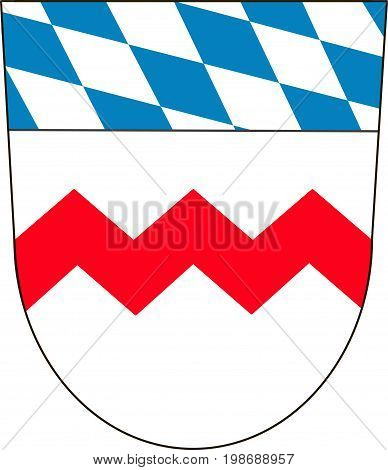 Coat of arms of Dachau is a district in Upper Bavaria in the southern part of Germany. Vector illustration