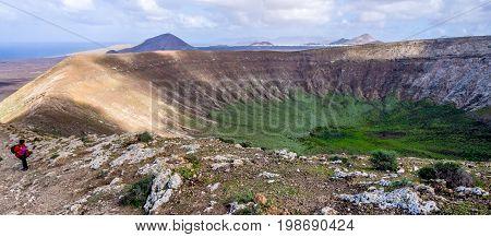 Canary Islands - Lanzarote - Caldera Blanca in Timanfaya national park