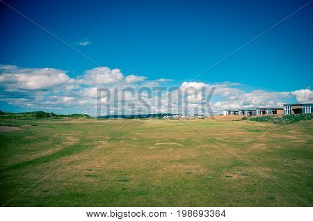 Clouds above the fairway in Cabot links in Nova Scotia