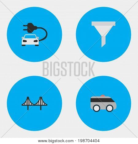 Vector Illustration Set Of Simple Traffic Icons