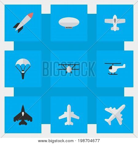 Vector Illustration Set Of Simple Plane Icons