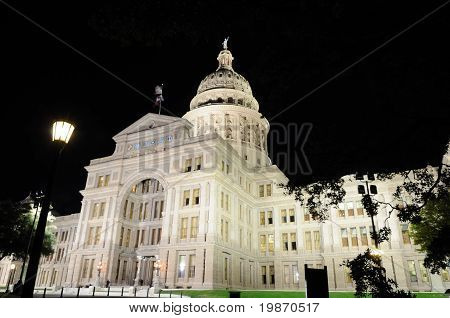 State Capitol Building at Night in Austin, Texas