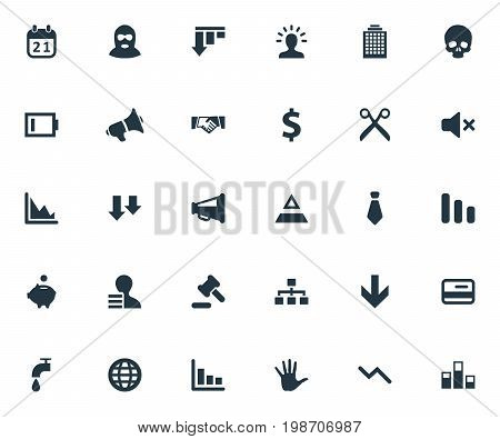 Vector Illustration Set Of Simple Impasse Icons
