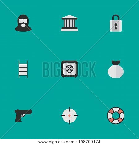 Vector Illustration Set Of Simple Offense Icons
