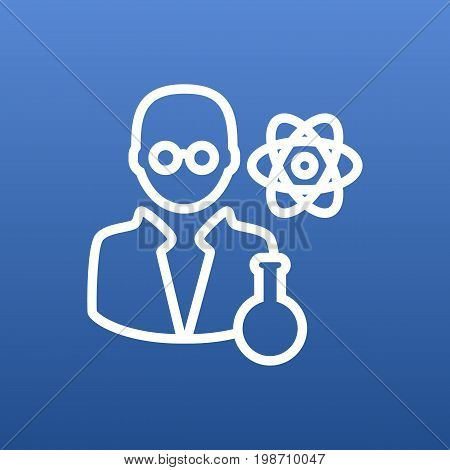 Isolated Scholarly Outline Symbol On Clean Background