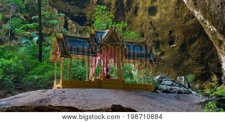 Royal Pavilion in Phraya Nakhon Cave. Khao Sam Roi Yot National Park, Prachuap Khiri Khan, Thailand